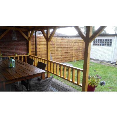 Afbeelding 19 van Azalp Houten veranda 300x300 cm