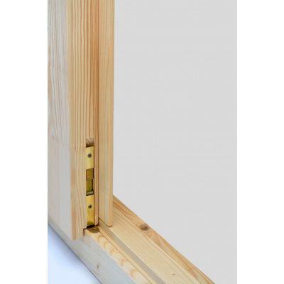 Afbeelding 5 van Azalp Dubbele Deur Half Glas (140x185 cm) wanddike kozijn 46 mm