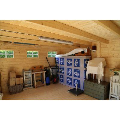 Bild 24 von Azalp Blockhaus Sven 450x450 cm, 30 mm