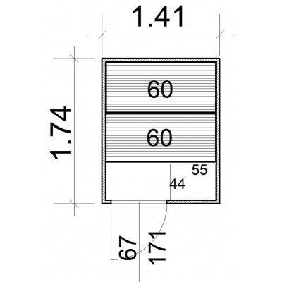 Afbeelding 5 van Azalp Massieve sauna Rio Standaard 141x174 cm, 39 mm