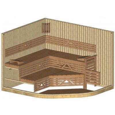Afbeelding 22 van Azalp Sauna Runda 237x280 cm vuren