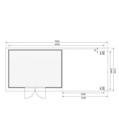 Afbeelding 2 van Woodfeeling Kandern 7 met veranda 300 cm (83004)