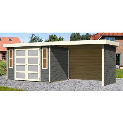 Hauptbild von Woodfeeling Leuven 4 mit Veranda 280 cm Terragrau