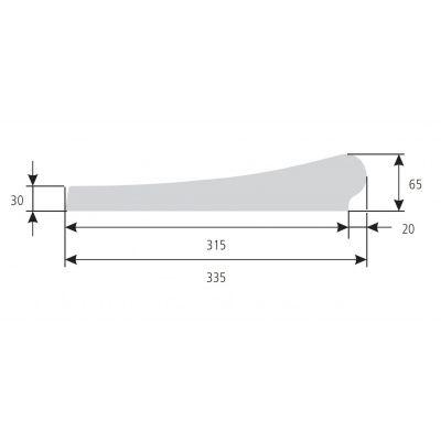 Afbeelding 4 van Trend Pool Boordstenen Tahiti 623 x 360 cm wit (complete set ovaal)