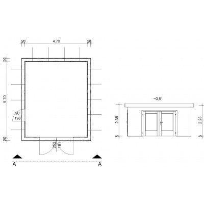 Afbeelding 4 van Azalp Garage Arno 470x570 cm, 30 mm Modern