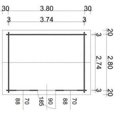 Afbeelding 55 van Azalp Blokhut Lis 400x300 cm, 30 mm