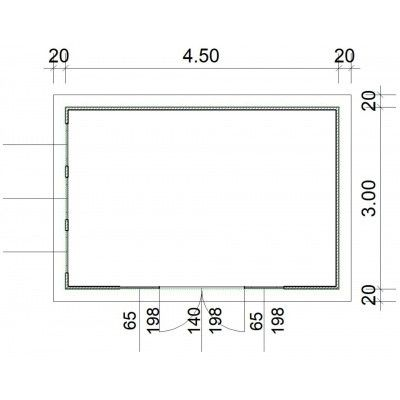 Bild 2 von SmartShed Blockhaus Zenon 450x300 cm, 45 mm