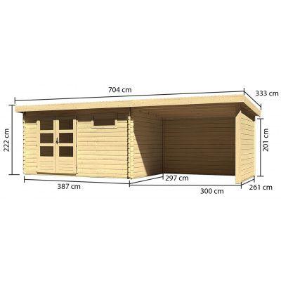 Afbeelding 3 van Woodfeeling Bastrup 8 met veranda 300 cm (78677)