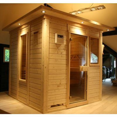 Afbeelding 36 van Azalp Massieve sauna Genio 190x166 cm, 45 mm