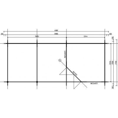 Bild 2 von Interflex 2555 Z, Seitendach 300 cm, Imprägniert