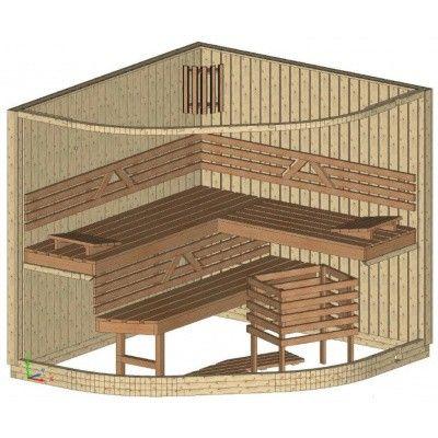 Bild 14 von Azalp Sauna Runda 203x237 cm, Espenholz