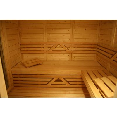 Afbeelding 19 van Azalp Massieve sauna Genio 240x250 cm, 45 mm