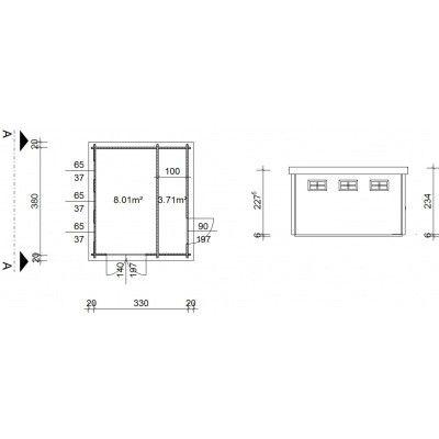 Bild 19 von Azalp Blockhaus Lars 350x400 cm, 45 mm