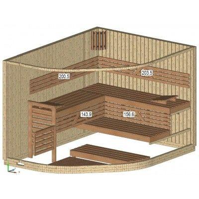 Afbeelding 14 van Azalp Sauna Runda 280x220 cm espen