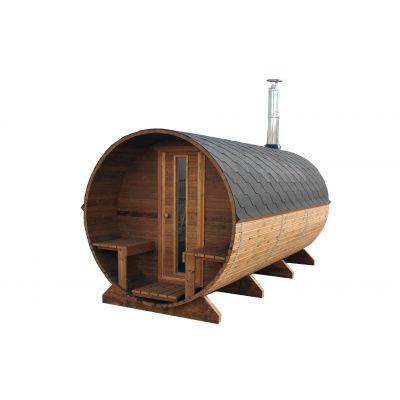 Afbeelding 6 van Azalp Buitensauna Barrel 207x380 cm in 45 mm