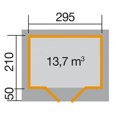 Bild 2 von Weka Designhaus 126 Gr.1, 295x210 cm Schwedenrot