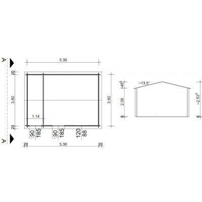 Bild 9 von Azalp Blockhaus Karlijn 550x400 cm, 45 mm