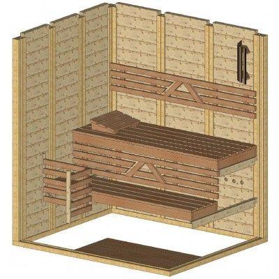 Afbeelding 44 van Azalp Massieve sauna Genio 180x150 cm, 45 mm