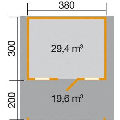 Afbeelding 2 van Weka Weekendhuis 138A Gr. 1 met Luifel 200cm