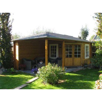 Bild 2 von Interflex Blockhaus 3555 Z, Seitendach 450 cm