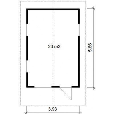 Bild 2 von Azalp Isoliertes Blockhäuser Viking 5