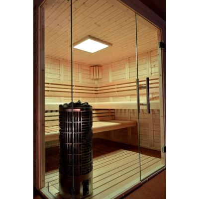 Afbeelding 2 van Azalp Sauna Luja 230x190 cm, 45 mm