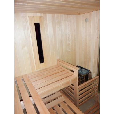 Afbeelding 24 van Azalp Saunabank recht, Elzen breedte 60 cm