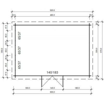 Bild 97 von Azalp Blockhaus Ingmar 500x350 cm, 45 mm