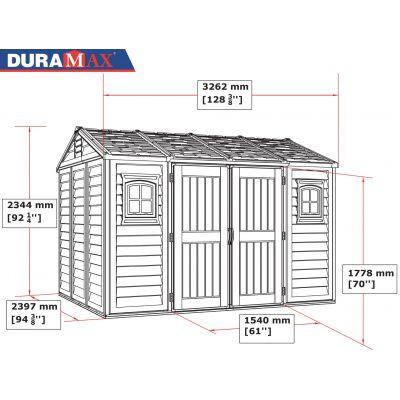 Bild 5 von Duramax Gerätehaus Apex 10X8