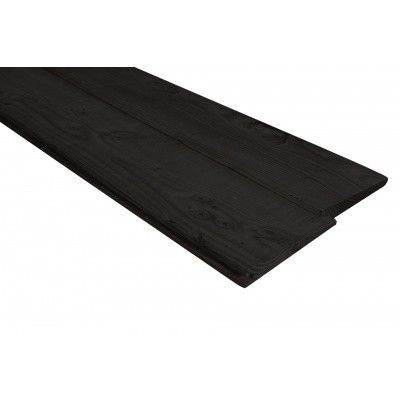 Afbeelding 4 van WoodAcademy Achterwand Vuren 600 cm Zwart (133565)*