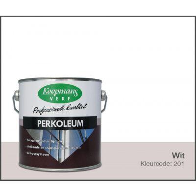 Afbeelding 2 van Koopmans Perkoleum, Wit 201, 2,5L Zijdeglans