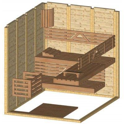 Afbeelding 44 van Azalp Massieve sauna Genio 180x220 cm, 45 mm