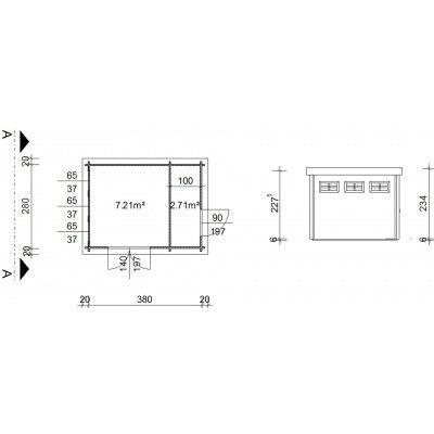 Bild 19 von Azalp Blockhaus Lars 400x300 cm, 45 mm