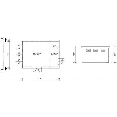 Bild 18 von Azalp Blockhaus Lars 550x400 cm, 45 mm