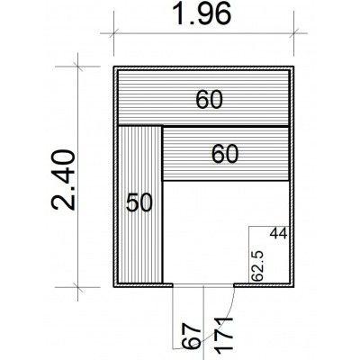Afbeelding 5 van Azalp Massieve sauna Rio Standaard 196x240 cm, 39 mm