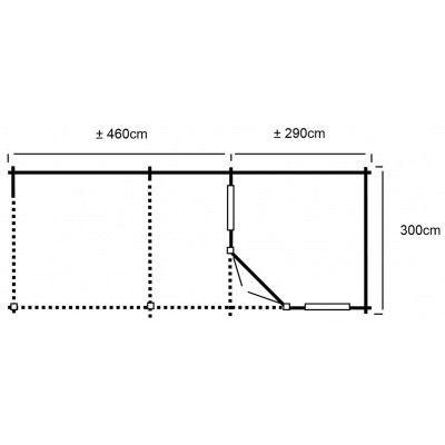 Bild 19 von Interflex 3055 Z, Seitendach 450 cm, Imprägniert