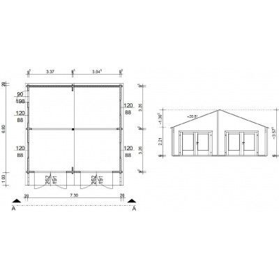 Afbeelding 18 van Azalp Garage Madrid 750x700 cm, 95 mm