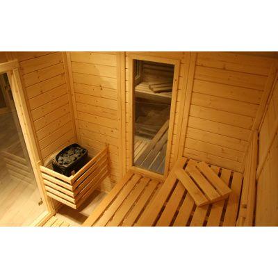 Afbeelding 17 van Azalp Massieve sauna Genio 180x180 cm, 60 mm