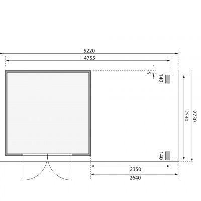 Afbeelding 2 van Woodfeeling Kandern 3, zijluifel 240 cm (82993)