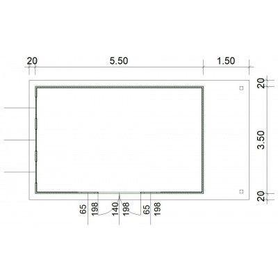 Bild 3 von SmartShed Blockhaus Isidro 550x350 cm, 45 mm