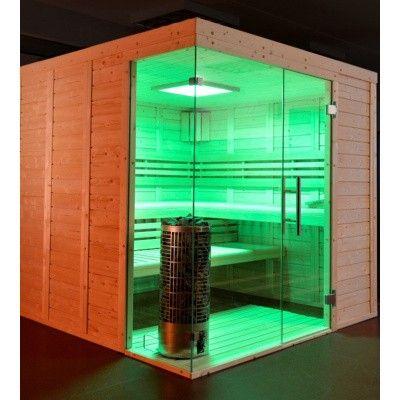Afbeelding 31 van Azalp Sauna Luja 250x210 cm, 45 mm