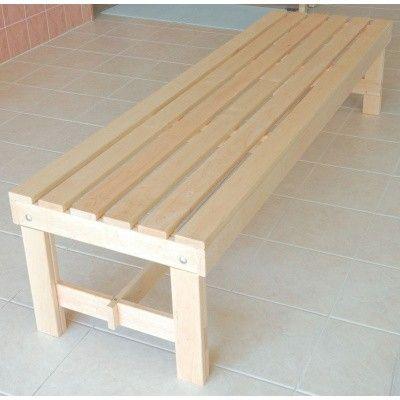 Afbeelding 6 van Azalp Saunabank vrijstaand, Elzen breedte 60 cm