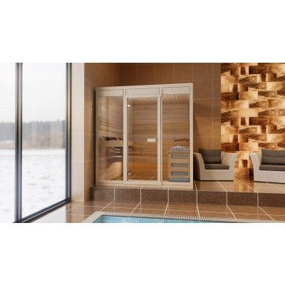 Afbeelding 2 van Azalp Massieve sauna Eva Optic 220x220 cm, 45 mm