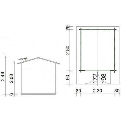 Bild 8 von Azalp Royal Class Blockhaus Annelies 250x300 cm, 30 mm