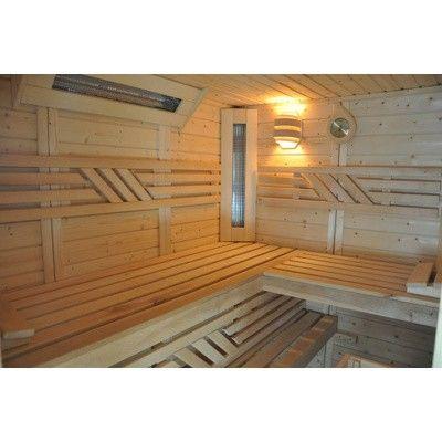 Afbeelding 35 van Azalp Saunabank recht, Elzen breedte 40 cm