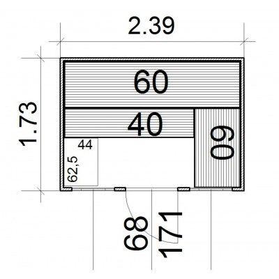 Afbeelding 3 van Azalp Massieve sauna Rio Optic 239x173 cm, 39 mm