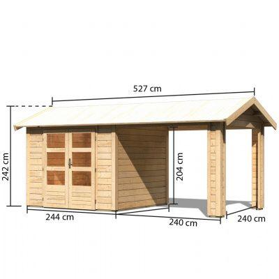 Bild 3 von Woodfeeling Tastrup 3 mit 1 Schleppdach (73270)