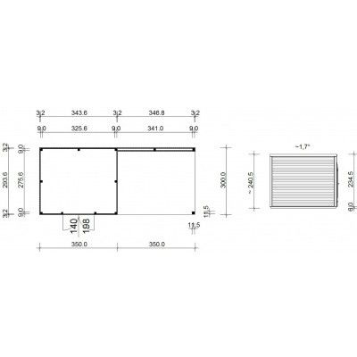 Afbeelding 18 van SmartShed Blokhut Ligne Ultra 700x300 cm