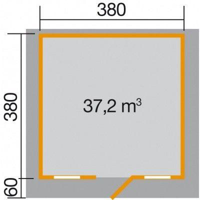Bild 2 von Weka Weekendhaus 138 Gr. 2 mit Vordach 60cm