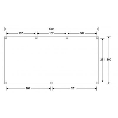 Afbeelding 4 van WoodAcademy Graniet excellent Nero blokhut 580x300 cm